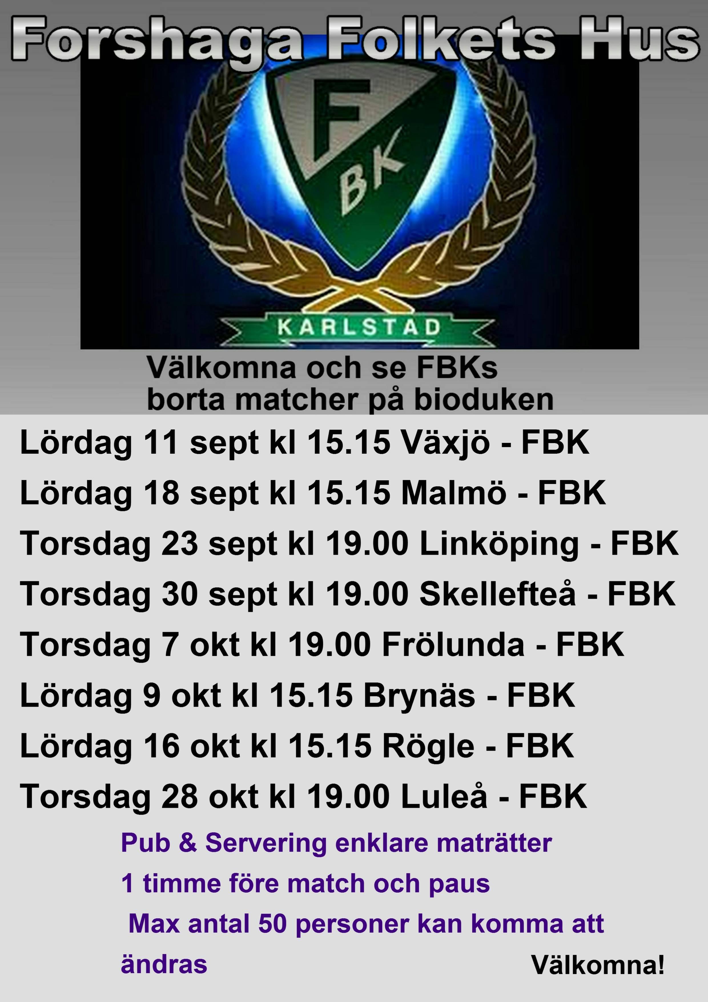 FBKs borta matcher hösten 2021